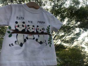 手書きTシャツパンダ1